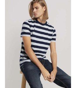 Tom Tailor Striped T-shirt Navy & Cream