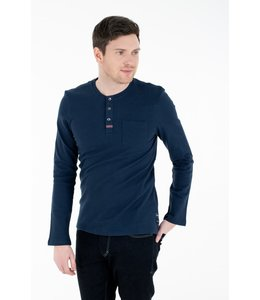 Tom Tailor L/S 3 button Henley - Navy