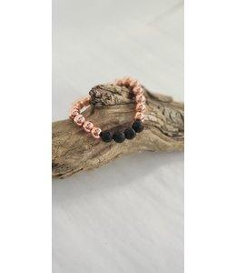 Kristin's Beads Bracelet- rose gold Hematite