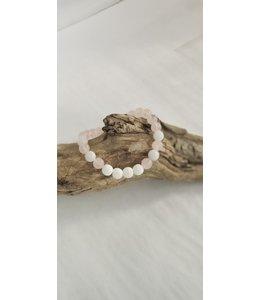 Kristin's Beads Essetial Oil Bracelet- Moonstone rose quartz