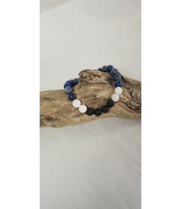 Kristin's Beads Essential oil bracelet-White Jade