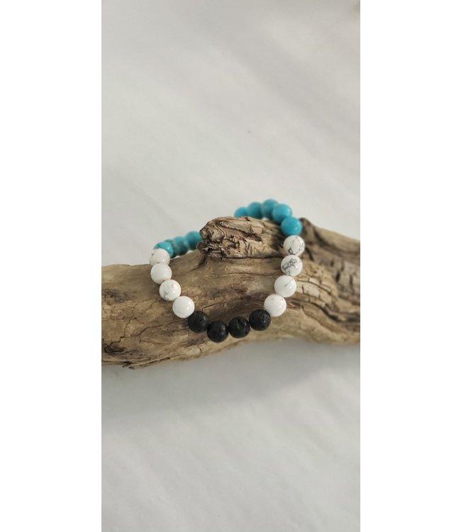 Kristin's Beads Essential oil bracelet- Tourquoise Magnesite/Howlite
