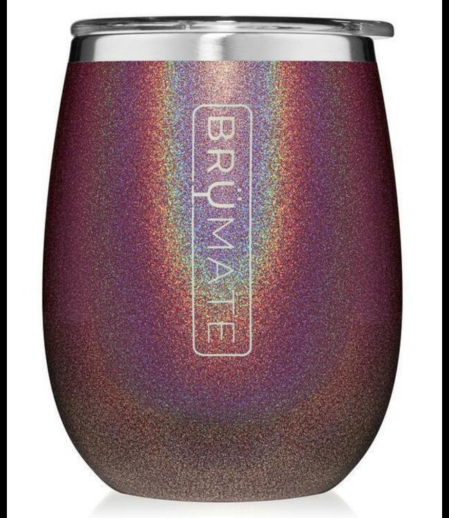 Brumate Uncork'd wine glass Glitter -Merlot