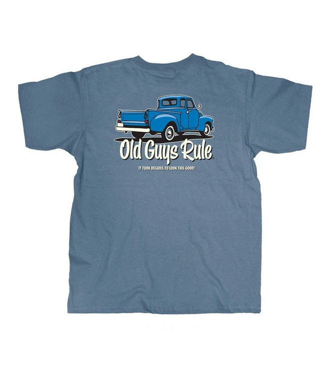 Old Guys Rule It took decades-stone blue