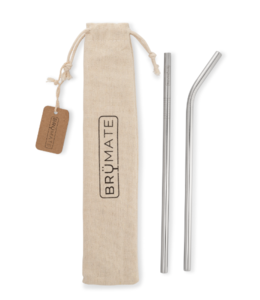 Brumate Reusable stainless steel Pint Straws