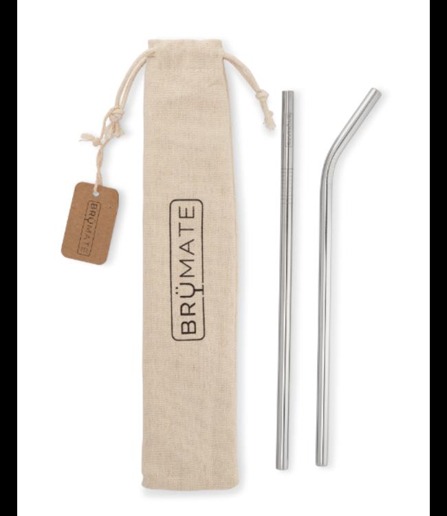 Brumate Reusable Wine Straws-Stainless steel