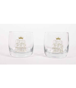 Old Guys Rule 2 Pack Whiskey Glasses