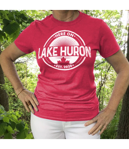 Here on Lake Huron S/S Tshirt - Saugeen Sunset