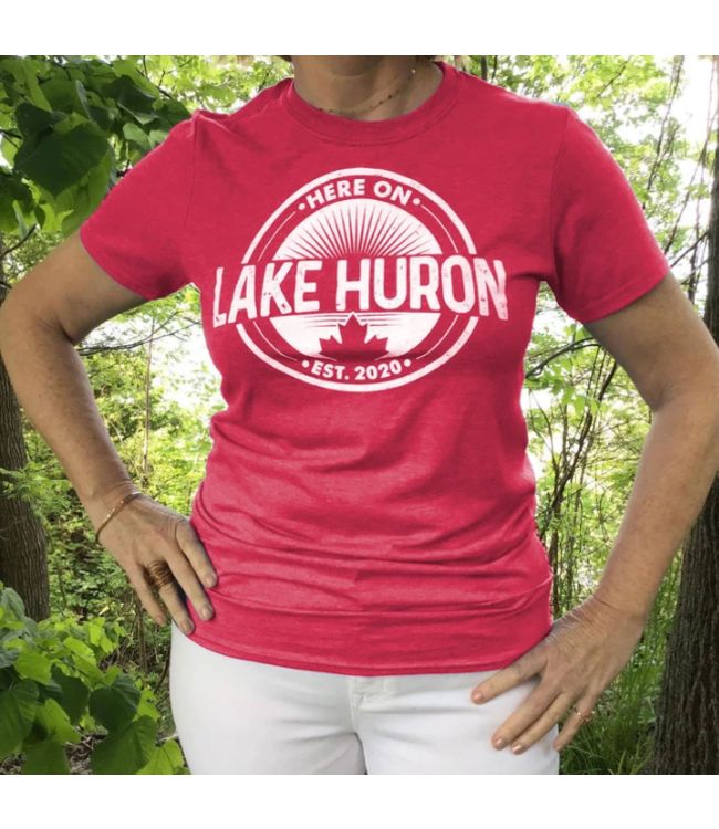 Here on Lake Huron T-shirt - Saugeen Sunset