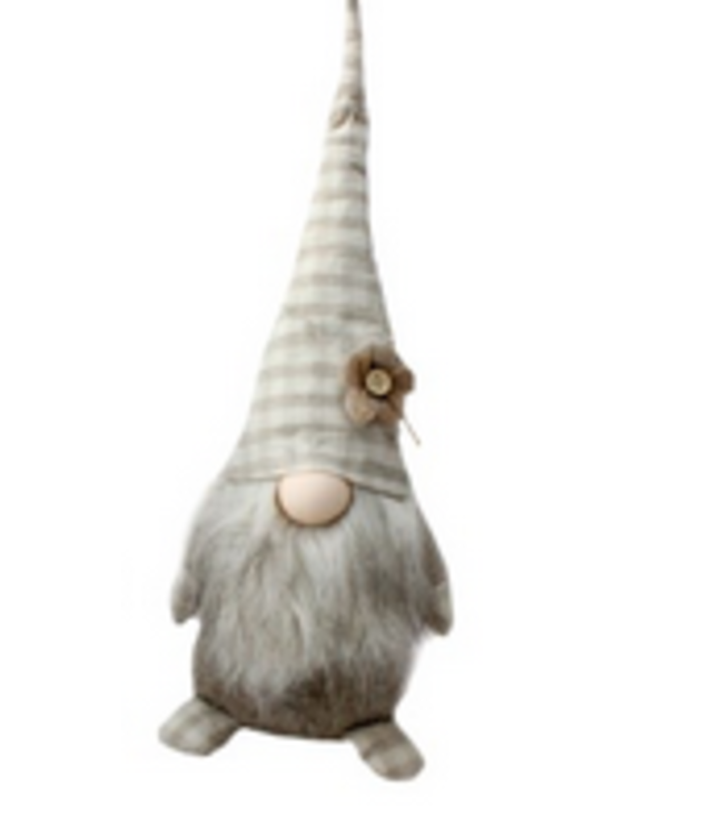 Large Gnome with plaid hat