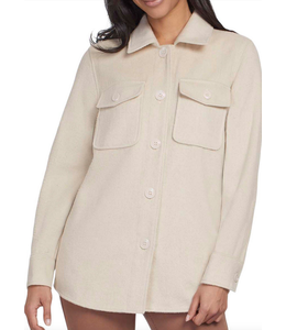 Tribal Long sleeve Jacket With Pockets - Ecru