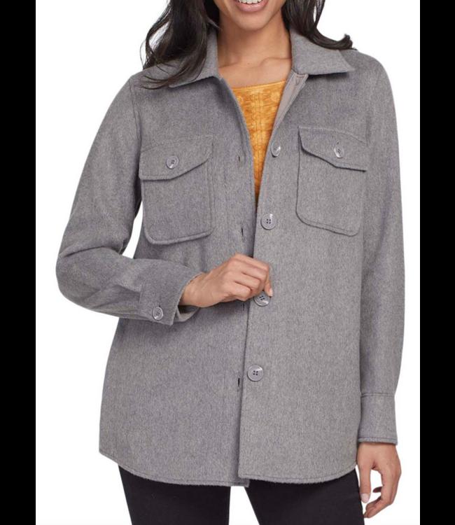 Tribal Long sleeve Jacket With Pockets - Grey Mix
