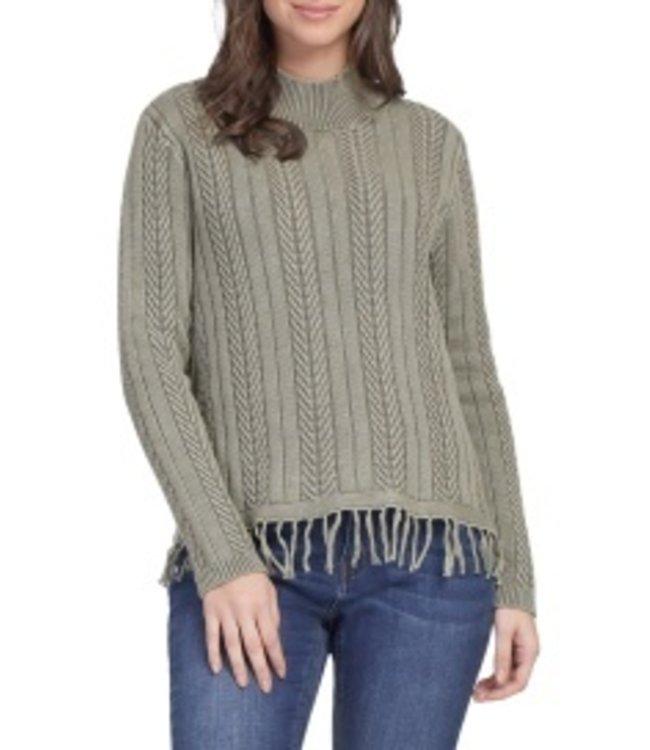 Tribal Sweater with Fringe - Laurel
