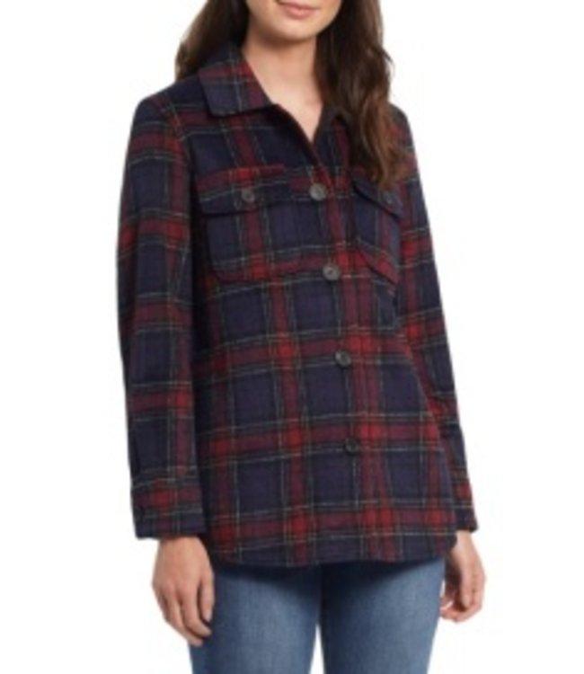 Tribal Jacket With Pockets - Brick