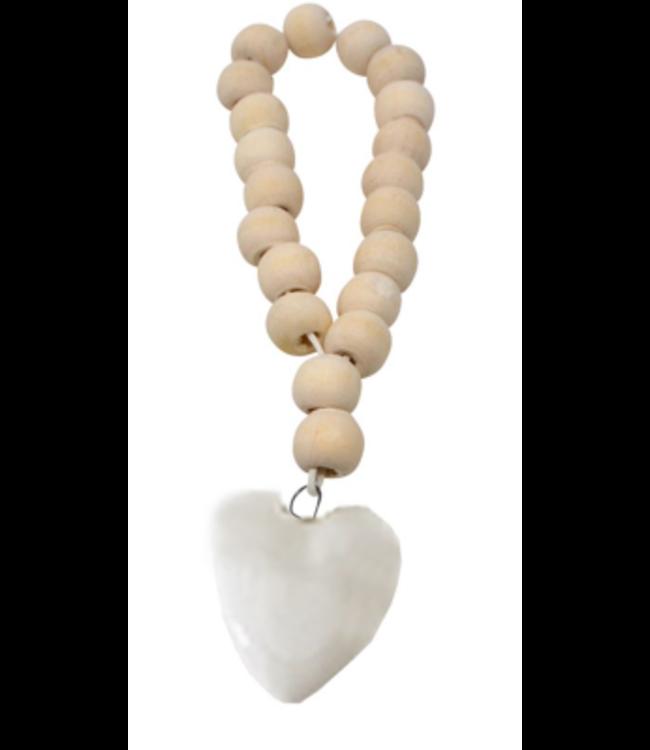 Decorative heart bead