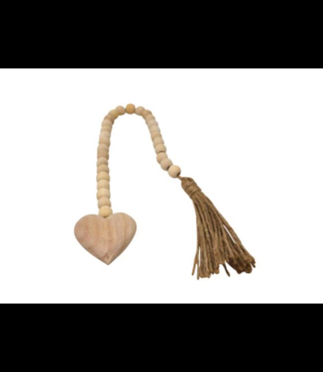 Decorative Heart bead -Natural