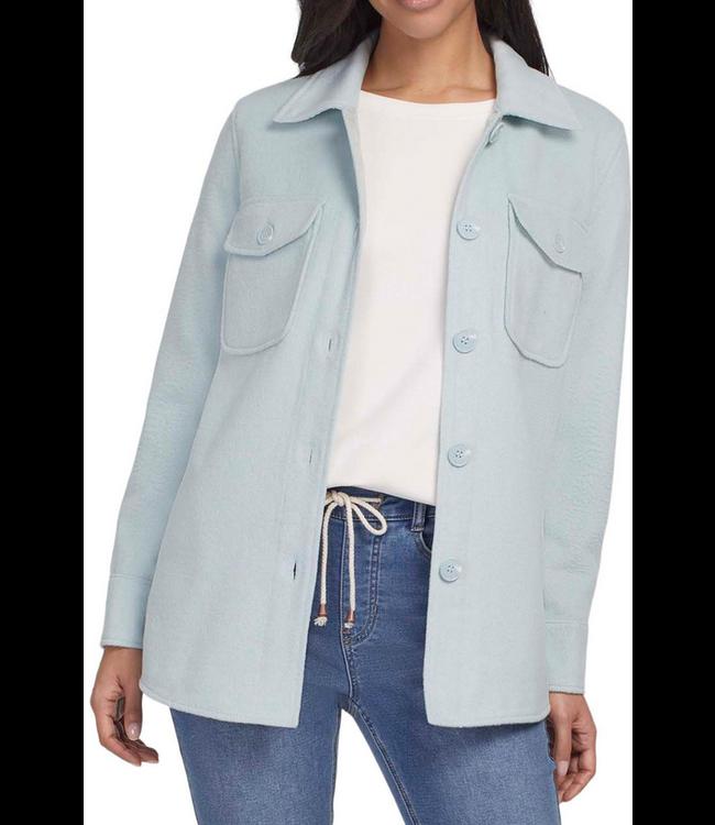 Tribal L/S Jacket W/Pockets - Ice Blue