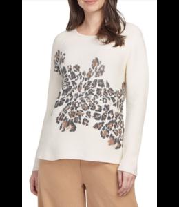 Tribal Printed Sweater- Cream
