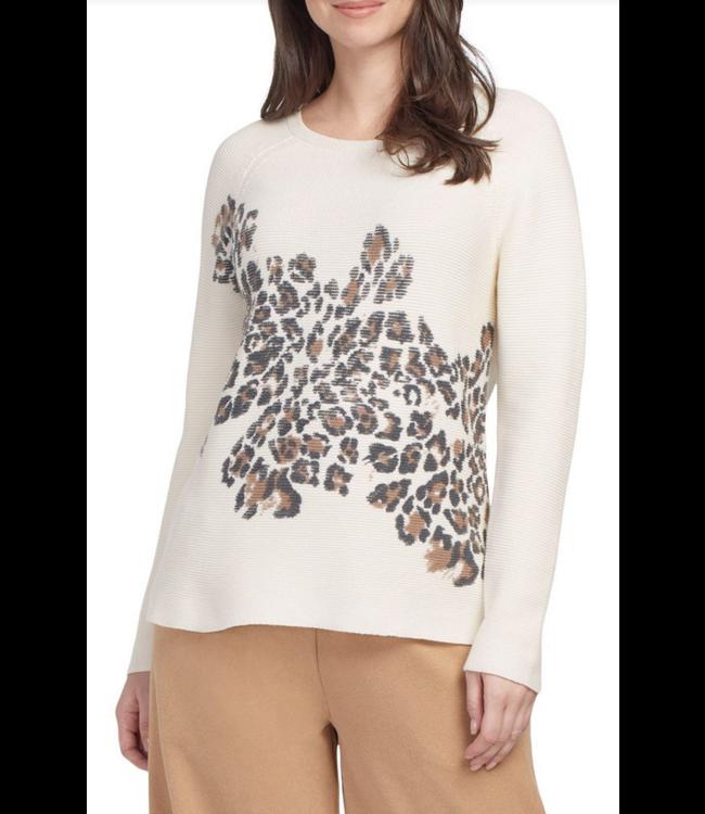 Tribal L/S Printed Sweater- Cream
