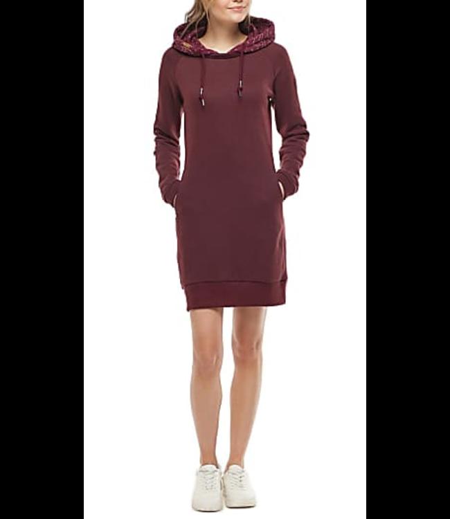 Ragwear Bess Dress- Wine Red