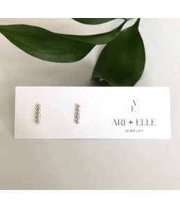 Ari Elle Jewelry Bubble Bar studs- Sterling Silver