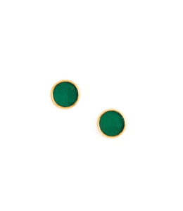 Cork House Design Emerald Cork -Gold Setting Studs