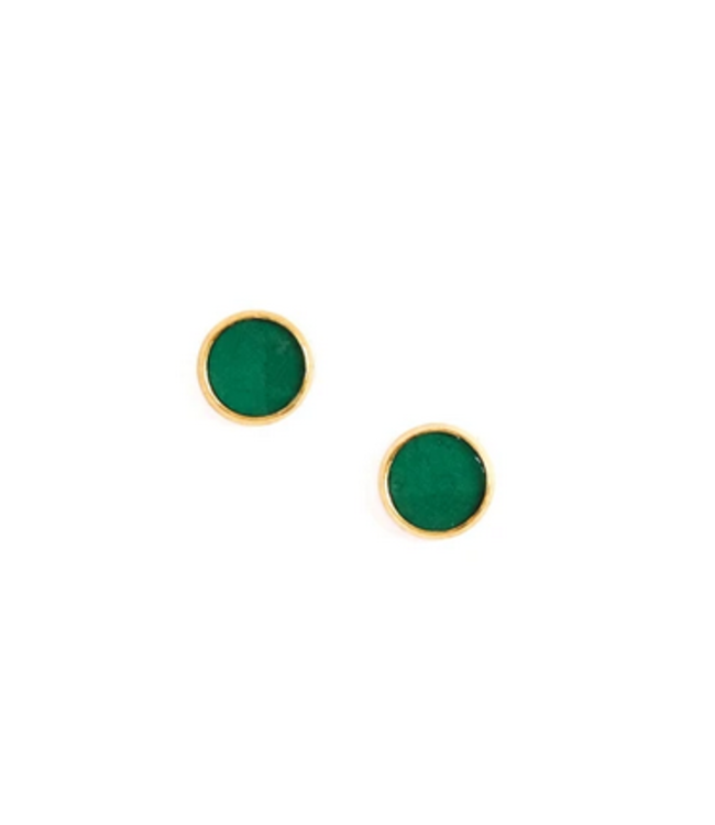 Cork House Design Emerald Cork - Gold Setting Studs