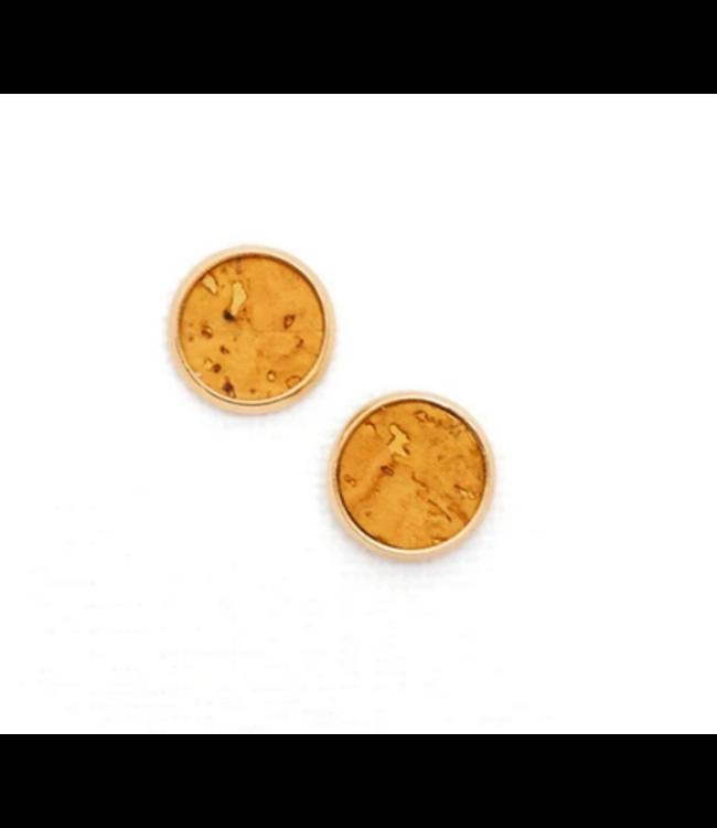 Cork House Design Mustard Cork- Gold Setting Studs