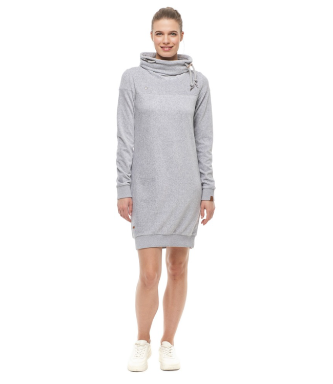 Ragwear Chloe Velvet Dress- Light Grey