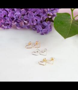 Ari Elle Jewelry Heart studs- Rose gold filled