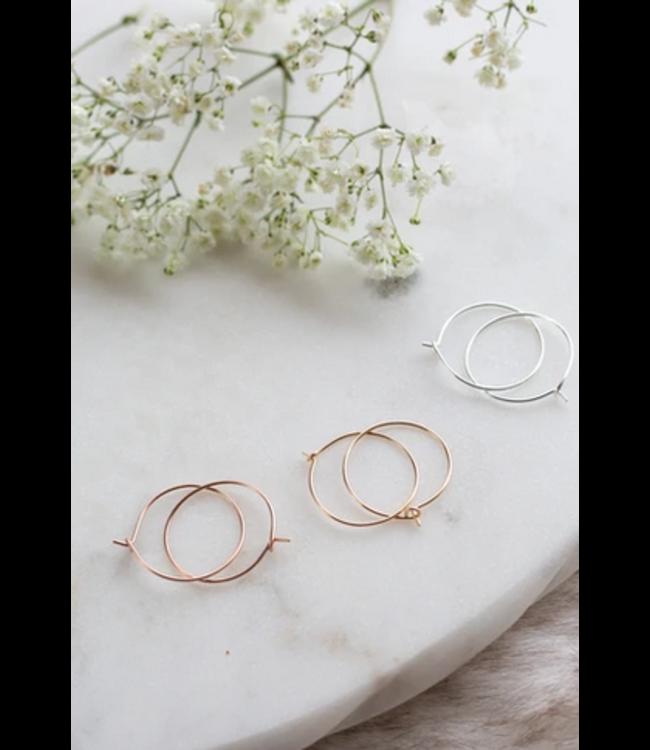 Ari Elle Jewelry Rose Gold Hoops