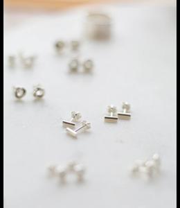 Ari Elle Jewelry Bar studs- Sterling silver