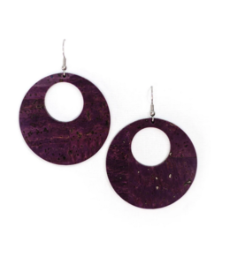Cork House Design Eclipses earrings-Mulberry cork