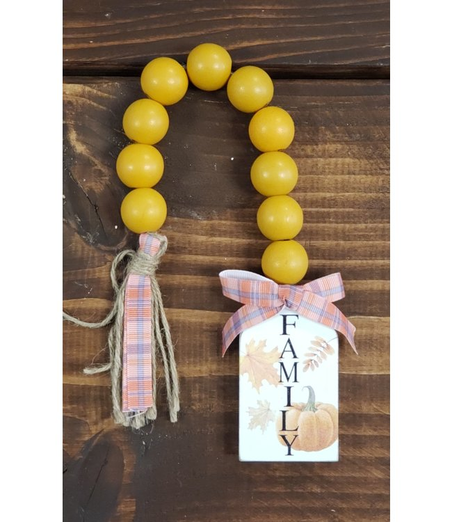 Wood Blessing Beads- Family