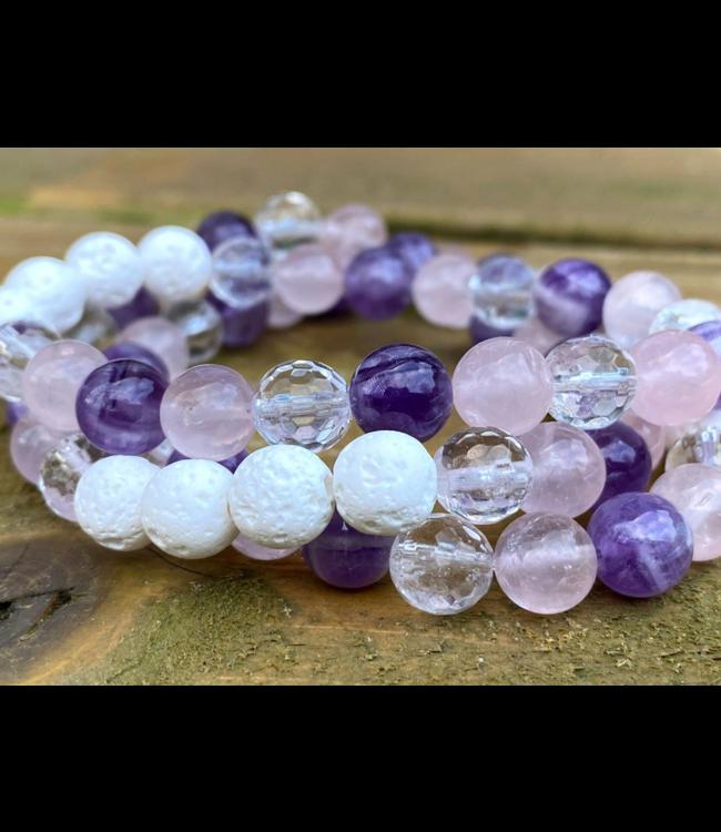 Kristin's Beads Bracelet-Clear Quartz
