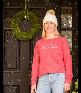 Happiness is... The Holidays Sweatshirt-Chili