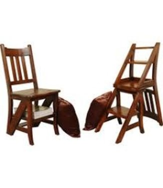 Sunset Trading CC-CHA005S-WN | Chair and Shelf Combo