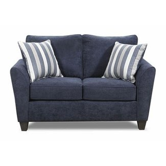 Lane® Home Furnishings 7081-02 Prelude Navy Loveseat- 7081-02-9267A