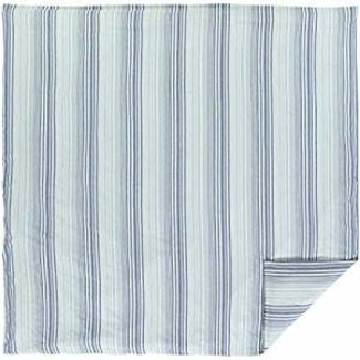 VHC BRANDS VHC Coastal Two-Tone Stripe Queen Duvet Cover 92x92-QUEEN