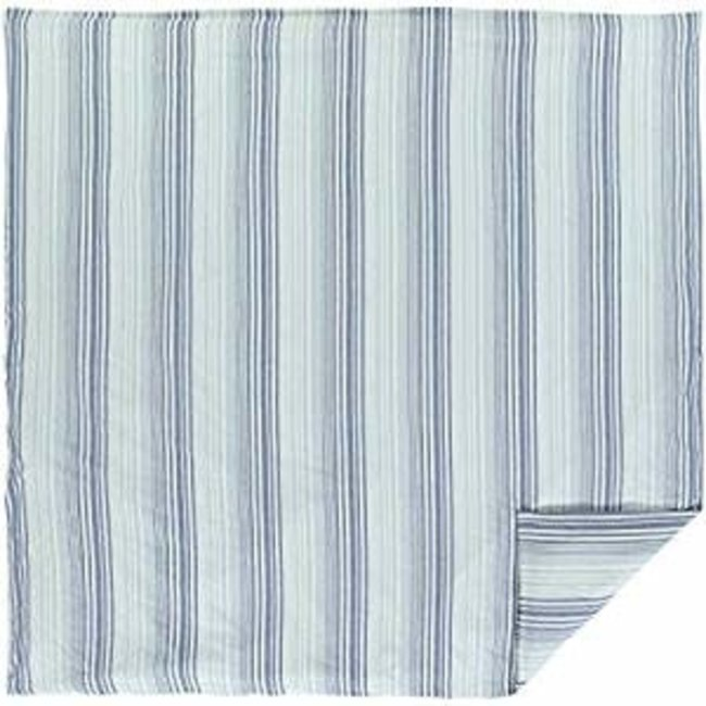 VHC BRANDS VHC Coastal Two-Tone Stripe Queen Duvet Cover 92x92-QUEEN