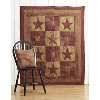 VHC BRANDS Ninepatch Star | Quilted Throw Blanket