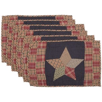 VHC BRANDS Arlington |Placemat Patchwork Set 6 12x18