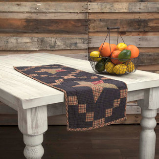 VHC BRANDS Arlington | Runner Quilted Patchwork Star 13x48