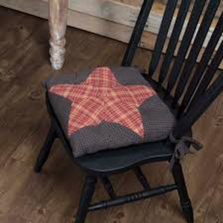 VHC BRANDS Arlington Chair Pad Patchwork Star