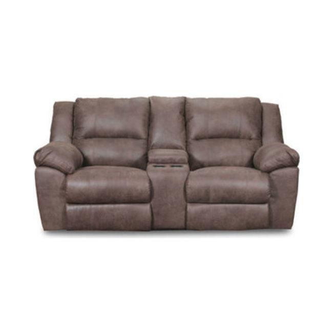 Lane® Home Furnishings PHOENIX MOCHA DM LOVESEAT W/CONSOLE 50111BR-63