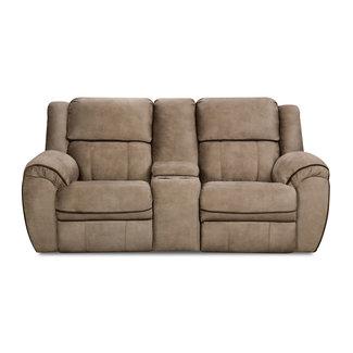 Lane Home Furnishings OSBORN TAN/ASBORN CHOCOLATE LOVE DBM W/CONSOLE DBL MOTION 50436BR-63