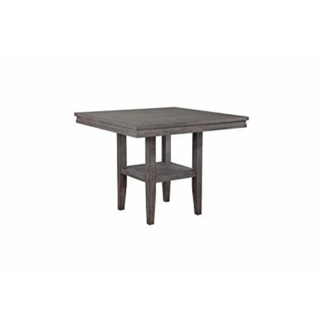 Sunset Trading DLU-EL4545C Shades of Gray Square Pub Table with Shelf