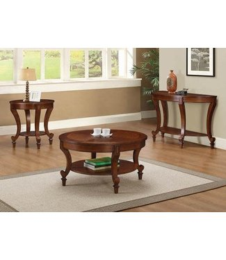 Coaster 704407 Set of 2 End Table Warm Brown