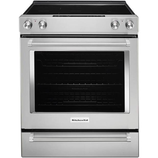 Whirlpool KitchenAid 6.4 cu. ft. Slide-In Electric Range with Self-Cleaning Convection Oven in Stainless Steel