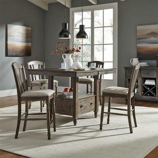 Liberty Furniture Candlewood (163-CD) 5 Piece Gathering Table Set SKU: 163-CD-5GTS